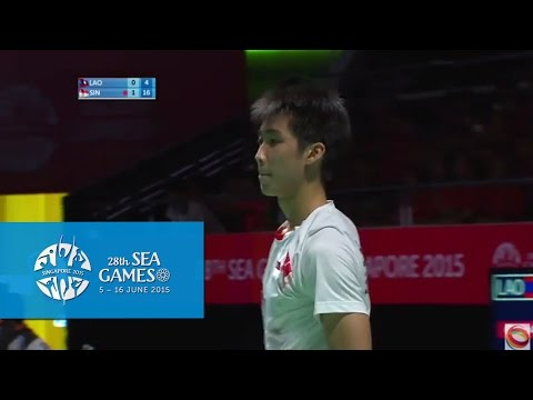 Badminton Mens Team Singapore vs Laos PDR Match 2 (Day 5) | 28th SEA Games Singapore 2015