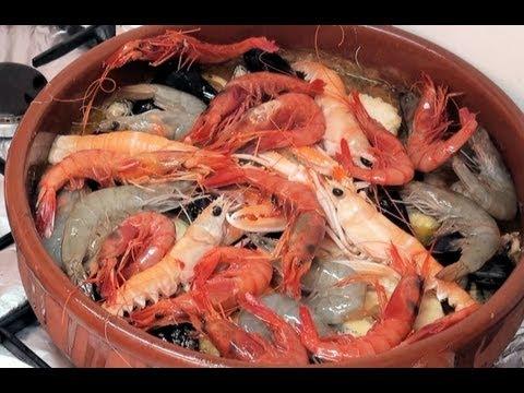 Zarzuela de pescado y marisco Vídeo receta 24 aquí cocinamos todos Cooking recipe