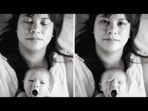 Two week old baby Kara (music by Kina Grannis) Video
