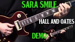 "performance | how to play ""Sara Smile"" on guitar by Hall & Oates 