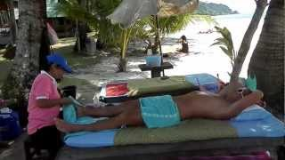 Massage on the beach in Koh Chang