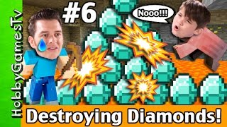 Destroying Diamonds Minecraft FAIL! Survival Mode HobbyGuy #6 HobbyGamesTV