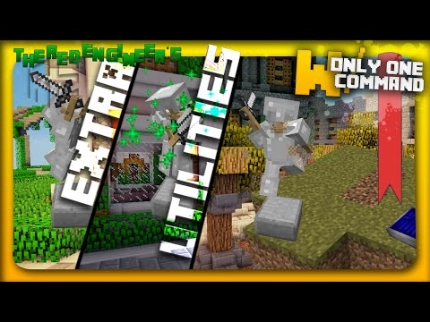 Minecraft - Extra Utilities with only one command block | Graves, Solar Panels & more!