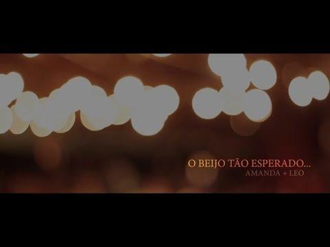 """A história do casal que deu o seu primeiro beijo no altar - Amanda + Leo – """"O beijo tão esperado…"""""""