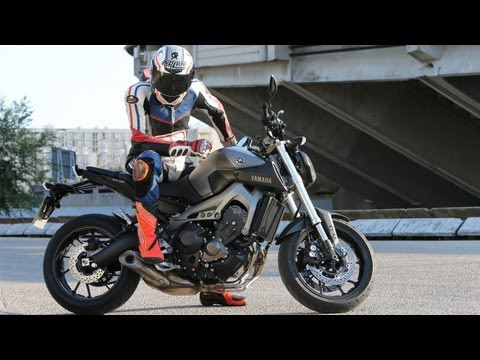 First Test     Yamaha MT-09 - Action & Details + Engl. Subs