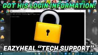 """LOGGING INTO A TECH SUPPORT SCAMMERS WEBSITE """"eazyheal""""   8553662200   www.eazyheal.com"""