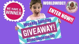 *ENTRIES NOW CLOSED* WEEKLY SUNDAY GIVEAWAY!!