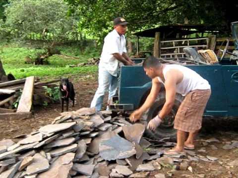 Como pegar piedra laja en paredes