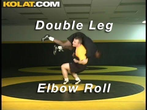Double Leg Elbow Roll KOLAT.COM Wrestling Takedowns Techniques Instruction Image 1