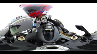 CBR600RR First Ride in 360 degrees