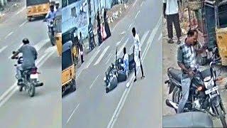 Phone Par Bat Karta Hua Bike Chalate Waqt Hua Accident At Bahadurpura Hyd