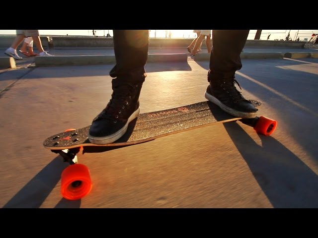 Skateboard Speed Record at the Beach