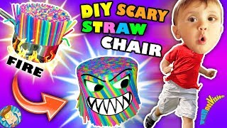 DIY Baby Chair of Straws! Vlog