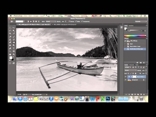 Black and White Photoshop - Indonesian Photography Tutorial
