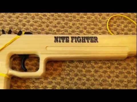Magnum 12 Nite Fighter Rubber Band Gun Review and Test Fire
