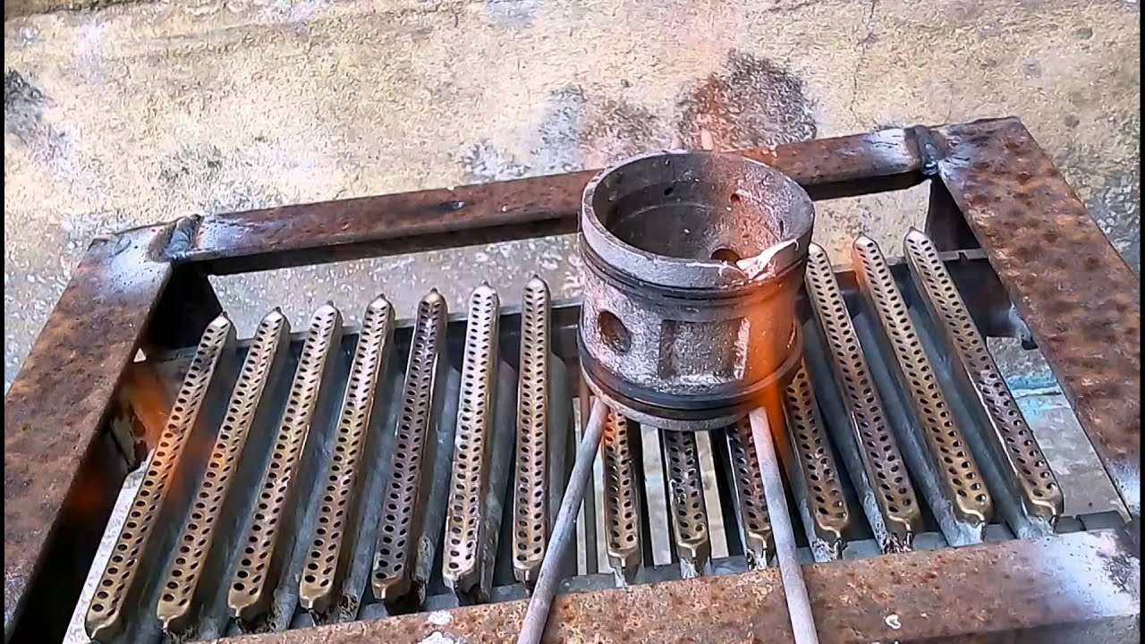 Печь газовые для плавки алюминия своими руками