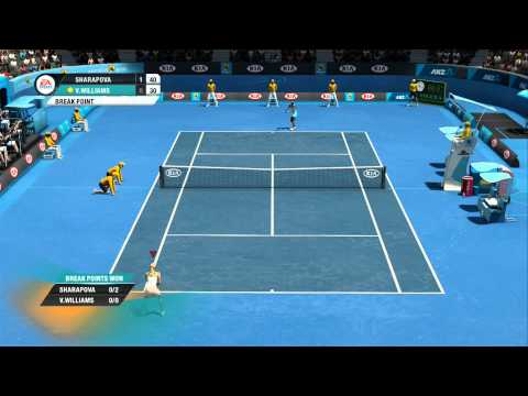Maria Sharapova vs Venus Williams Australian Open Grand Slam Tennis Xbox 360 Gameplay Superstar