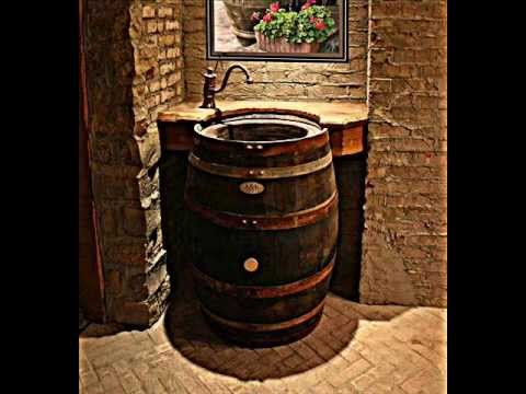 The Original Whiskey Barrel Sink - YouTube