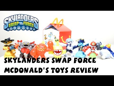 Skylanders McDonald's Toys 2014 Review - Swap Force