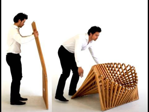 chair design (rising chair) by Robert van Embricqs