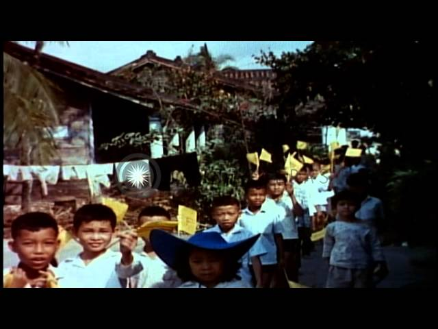 Republic of Vietnam and US efforts to gain support of civilians and train Irregul...HD Stock Footage