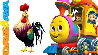 🐮 Nursery Rhymes & Farm Animals Songs | Nursery Rhymes and Kids Songs from Dave and Ava 🐓