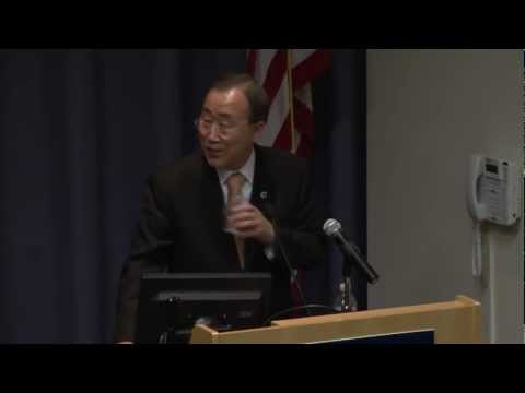 UN Secretary-General Ban Ki-moon on Shaping Solutions for a World in Transition