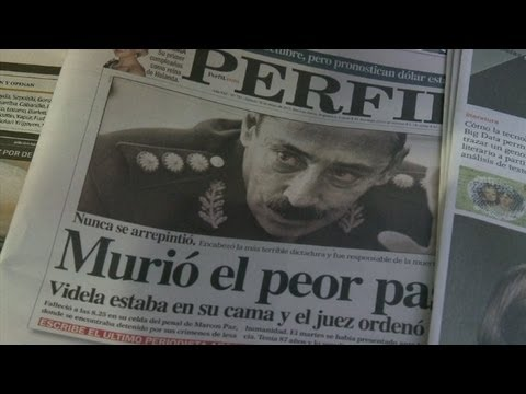 Argentina vive la muerte de Videla