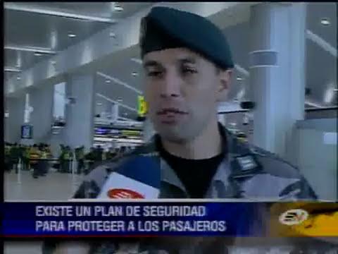 Siguen los simulacros de emergencia en la terminal de Tababela