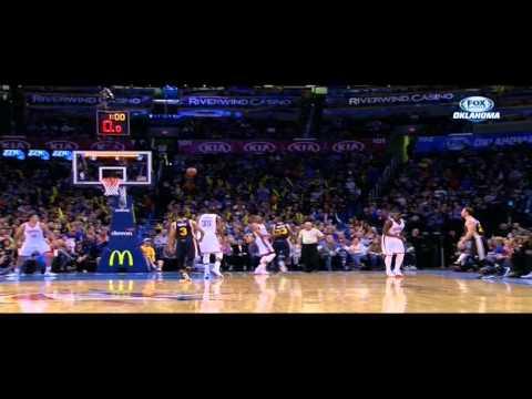Trevor Booker over the head shot: Utah Jazz at Oklahoma City Thunder