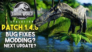 PATCH 1.4.5 UPDATE + FUTURE OF THE GAME | Jurassic World: Evolution Patch Update