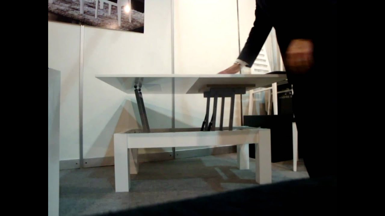 Mesa de centro convertible en mesa de comedor youtube - Mesas grandes de comedor ...