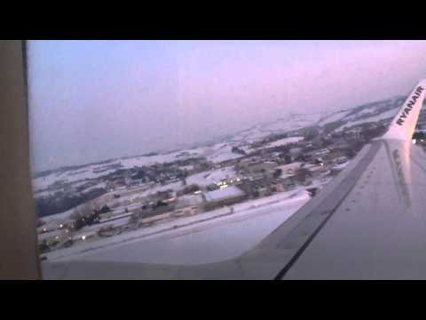 La neve di Ancona dall'aereo