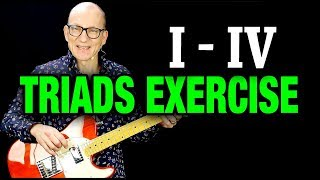 Triads lesson: I - IV exercise in 3 keys