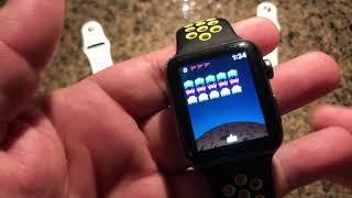 Space Invaders 👾 Gameplay on Apple Watch Series 4 3 2 1