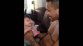 Heartwarming Moment Between Dad and Baby Daughter