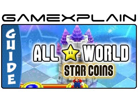 New Super Mario Bros. 2:  Star World Moon Coins (All 24!) Guide & Walkthrough