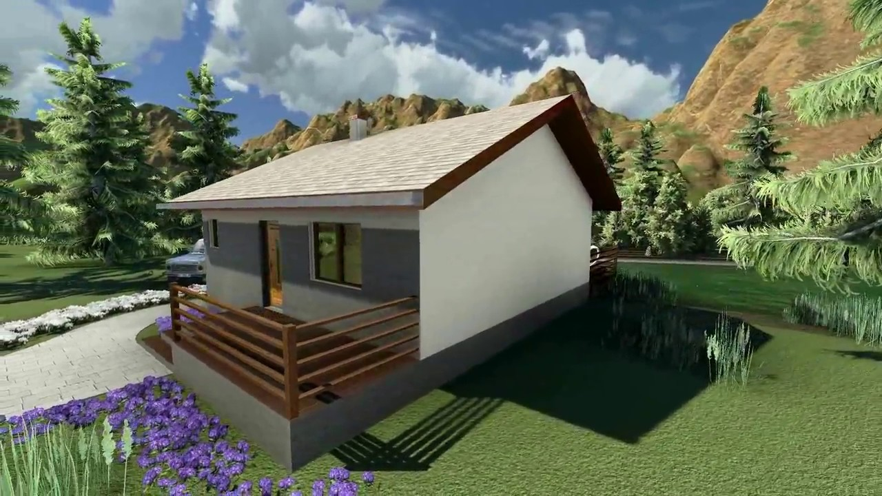 MODEL A-06, Interesantna vikendica, kuća za odmor, P = 76 m2 ...