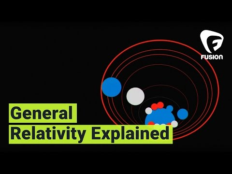 General relativity explained in under three minutes