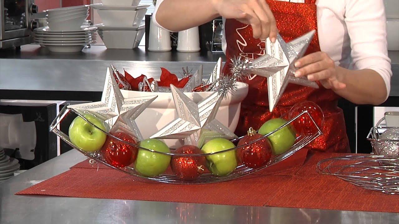 Tip decoraci n de navidad con frutas youtube - Adornos de frutas para mesas ...