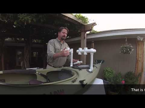 How to make a fishing rod holder for kayak distance for Make your own fishing rod
