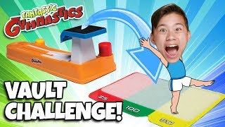 FANTASTIC GYMNASTICS VAULT CHALLENGE!!! Loser Gets Messy Mystery Surprise!