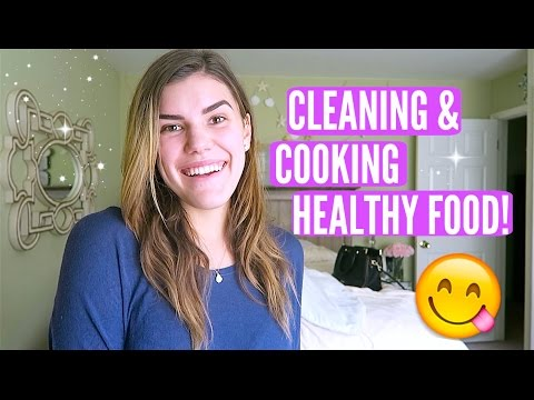 CLEANING & COOKING HEALTHY FOOD!!