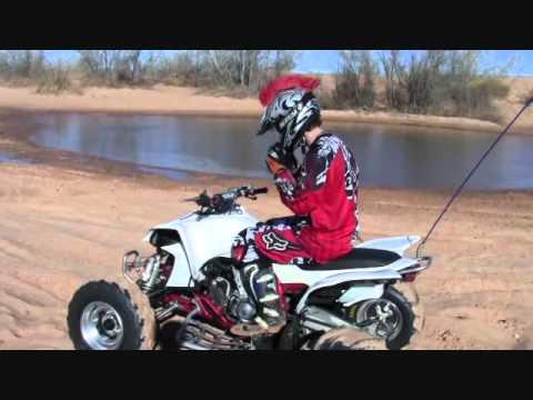 YFZ450 ATV water skipping at Little Sahara OK Kyle Patterson