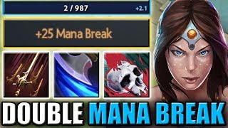 Quadruple Mana Burn with Double Mana Break [Swashbuckle + Coup de Grace] Dota 2 Ability Draft