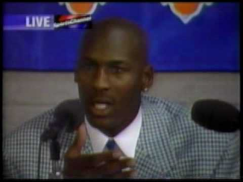 Michael Jordan - 55pts v Knicks, post-game 1995