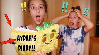 I BROKE INTO MY SISTERS ROOM AND READ HER SECRET DIARY!!