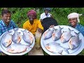 KING SIZE FISH FRY | Red Pomfret fish Fry in Village | Village Style Cooking | Village Food thumbnail