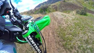 Motocross Freeride Jumps At Nonamers Canyon