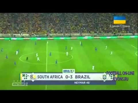 South Africa - Brazil (0-5) friendly game